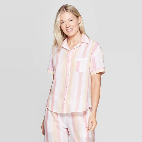 Women's Striped Simply Cool Sleep Camisoles - Stars Above™ Pink - image 1 of 3