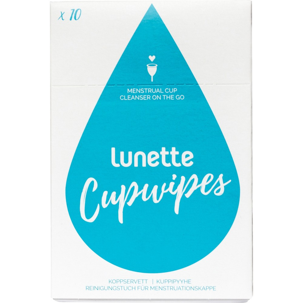 Lunette Menstrual Cup Wipes - 10ct