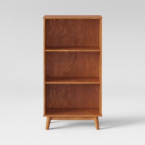 46 Amherst Mid Century Modern 3 Shelf Bookcase