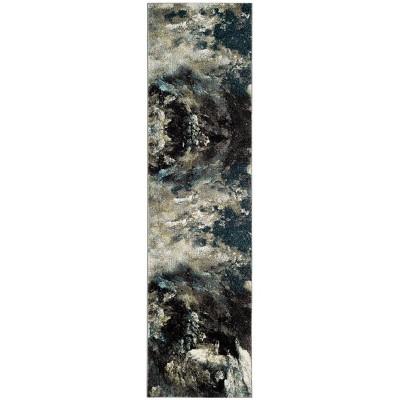 """2'2""""x8' Loomed Tie Dye Design Runner Rug Blue - Safavieh"""