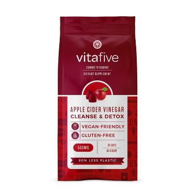 Vitafive Cleanse & Detox Gummies - Apple Cider Vinegar - 60ct