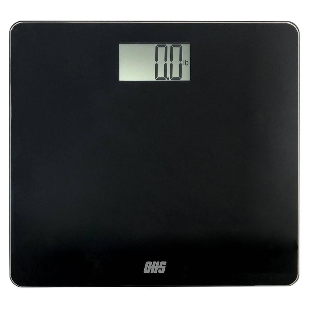 Tone Talking Digital Bathroom Scale In English/Spanish Black - Optima Home Scales