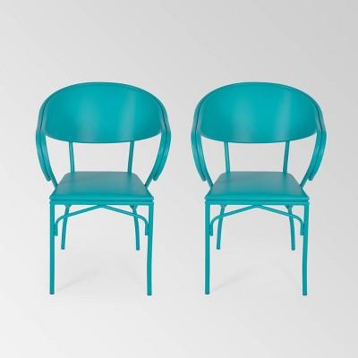 Palm Desert 2PK Iron Modern Dining Chair - Christopher Knight Home