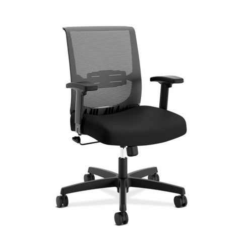 Convergence Mesh Back Task Chair with Height Adjustable Arms Black - HON - image 1 of 4