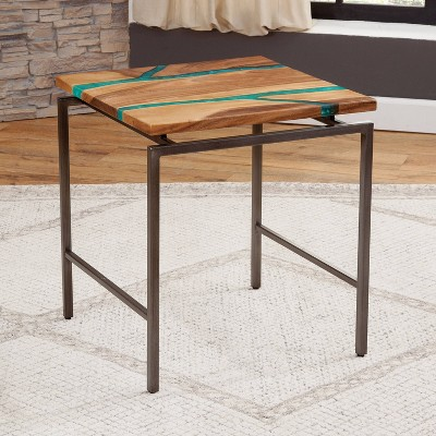Tamra End Table Metal Brown - Steve Silver Co.