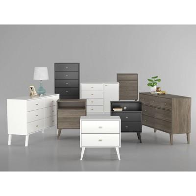 Milo Mid-Century Modern Bedroom Furniture Collection - Prepac