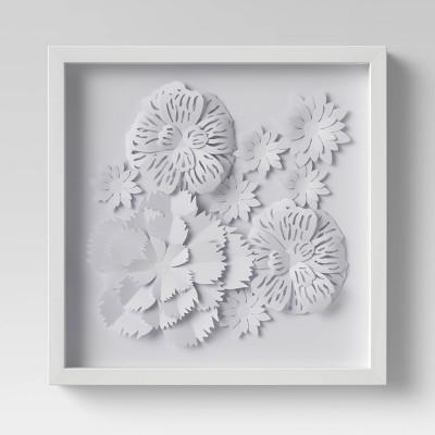 Flower Shadowbox White - Threshold™