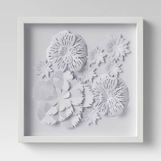 Flower Shadowbox White - Threshold™
