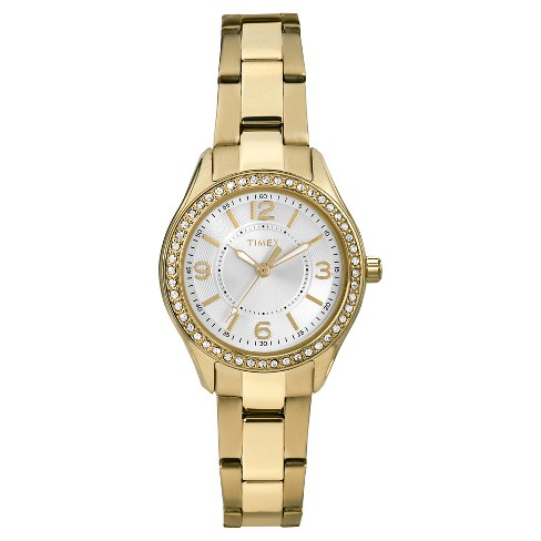Women's Timex Watch with Crystal Bezel - Gold TW2P80100JT - image 1 of 1