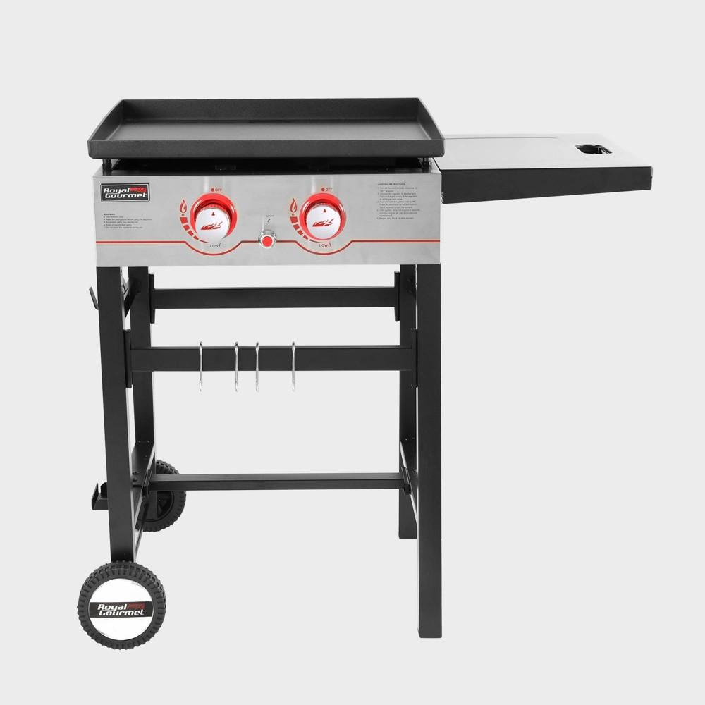 Image of 2 Burner Propane Gas Grill Griddle GB2000 Black - Royal Gourmet