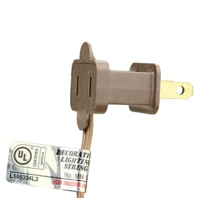 CMI 50ct Mini String Light Set Clear - 12' Brown Wire