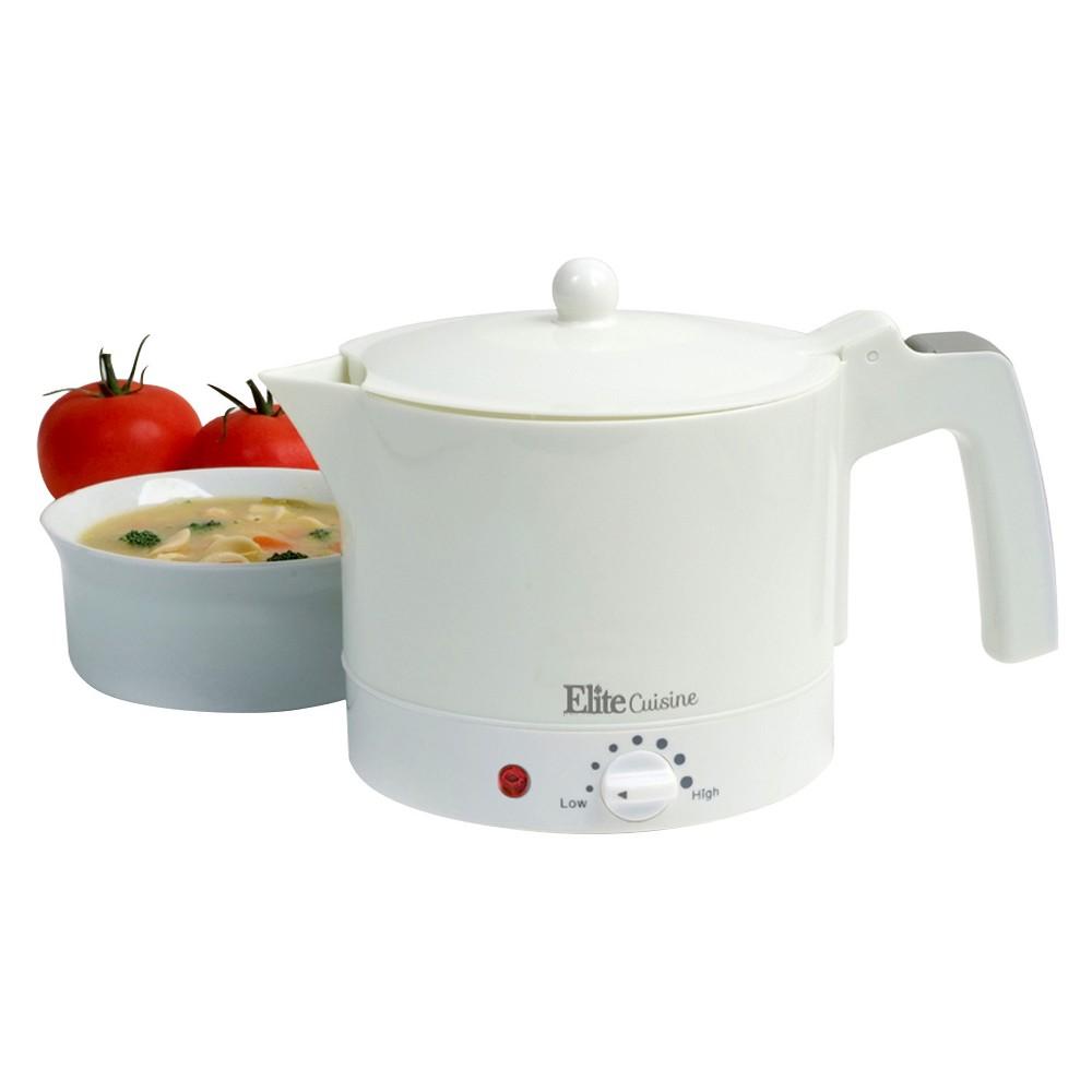 Elite Cuisine Hot Pot, White 50967914
