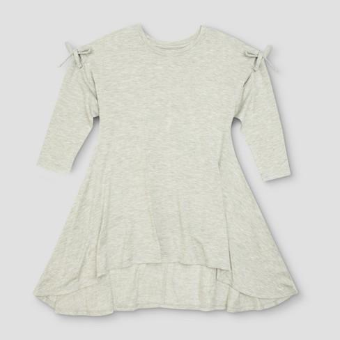 4c3efe966a6 Toddler Girls  Afton Street Fleece A Line Dress - Heather Gray   Target