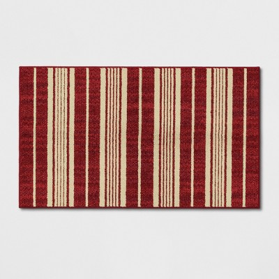 1'8 X2'10  Stripe Tufted Accent Rugs Red - Threshold™