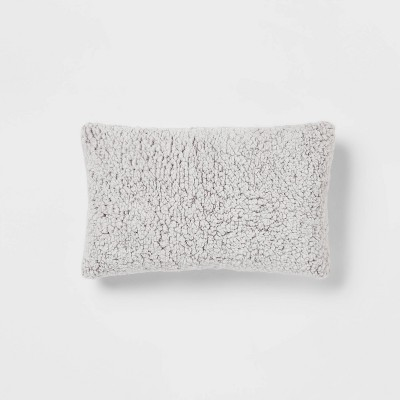 Tipped Sherpa Throw Pillow - Threshold™