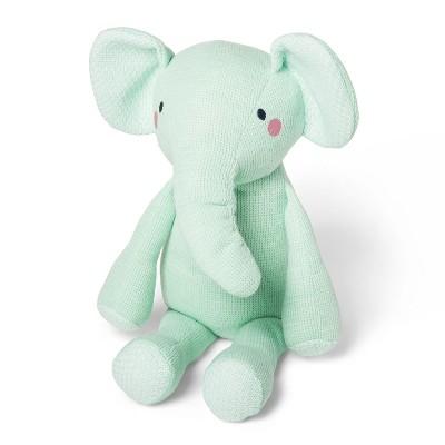Knit Plush Elephant - Cloud Island™ Mint