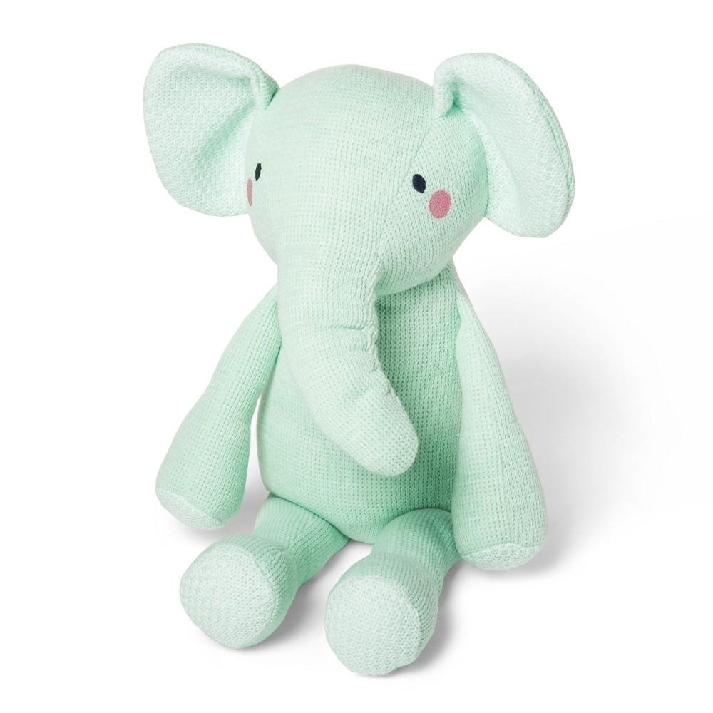 Knit Plush Elephant - Cloud Island Mint, Joyful Mint