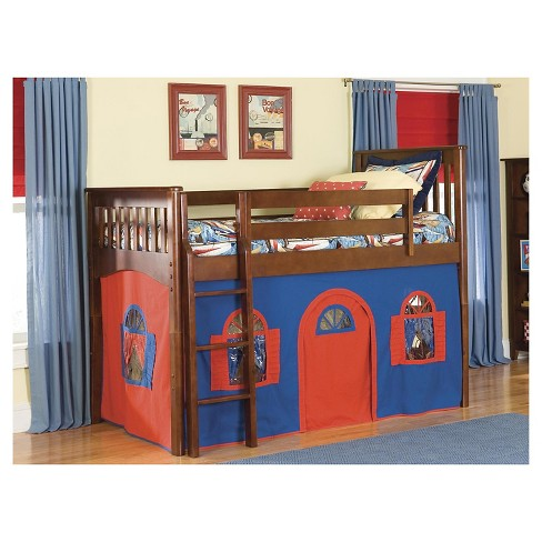 Mission Low Loft Bed With Tower Tent And Curtains Target