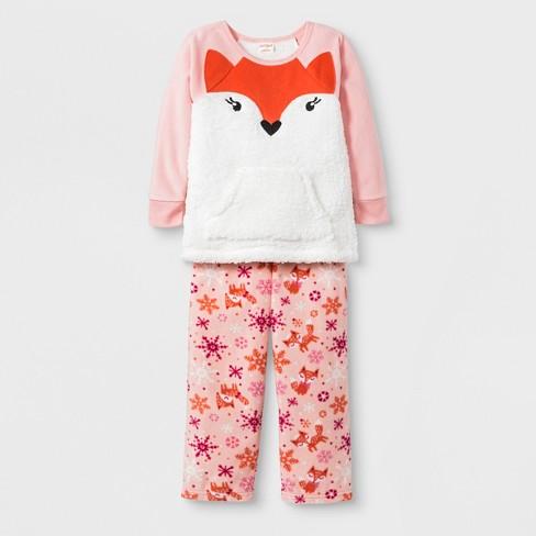 8d8e4041e Toddler Girls  2pc Fox Pajama Set - Cat   Jack™ Pink   Target