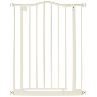 Toddleroo by North States 4978 Portico Arch Tall & Wide Baby Safety Gate, Linen
