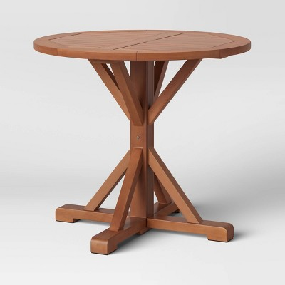 Morie Round Patio Bistro Table - Brown - Threshold™