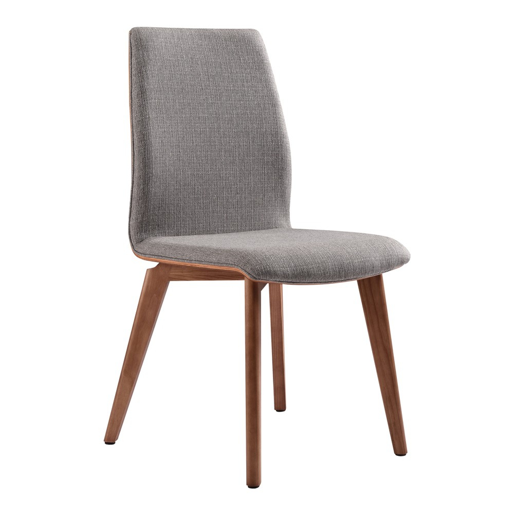 Set of 2 Archie Mid-Century Dining Chair Gray - Armen Living