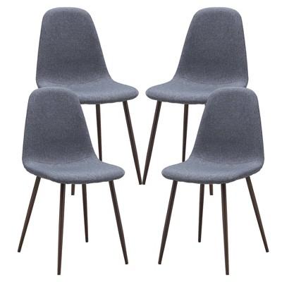 Set of 4 Nicholas Mid Century Dining Chair - Poly & Bark