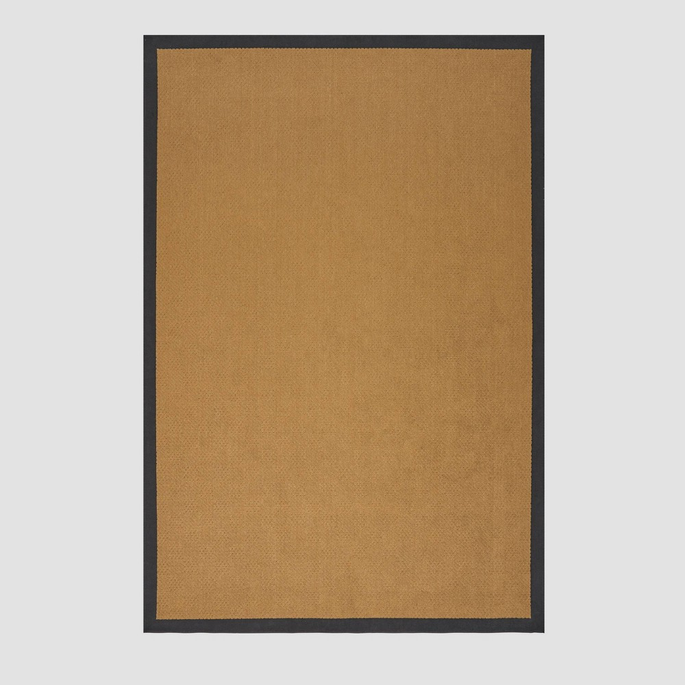 8' x 11' Troy Border Outdoor Rug Beige/Black - Christopher Knight Home