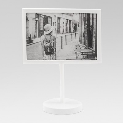 Modern Standing Single Image Frame White 4x6 - Project 62™