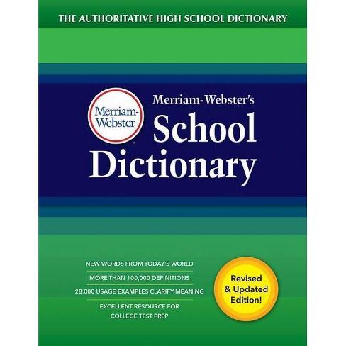 Merriam Webster S School Dictionary By Inc Merriam Webster Hardcover Target