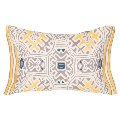 Yellow Traditions Made Modern Throw Pillow - Jaipur