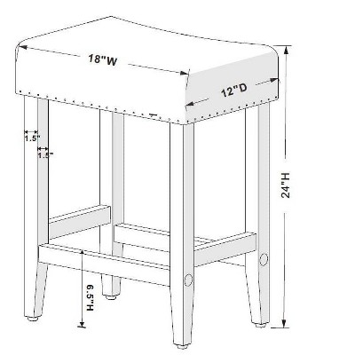 "24"" Rumford Saddle Counter Height Barstool With Wood Leg - Threshold™ : Target"