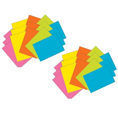 """6pk 100 per Pack 4"""" x 6"""" Super Bright Index Cards Unruled - Pacon"""