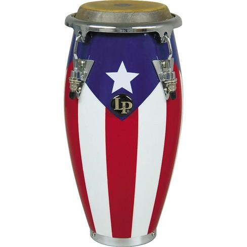 Latin Percussion LP Matador Wood Bongos Puerto Rico Flag