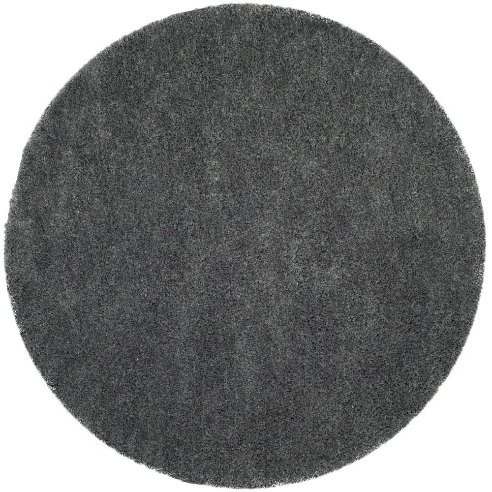 5' Solid Tufted Round Area Rug Gray - Safavieh