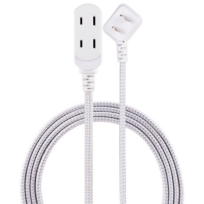 Cordinate 15' 3 Outlet Polarized Extension Cord Gray
