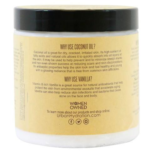 Urban Hydration Coconut Oil Vanilla Extract Whipped Body Cream 15 2 oz
