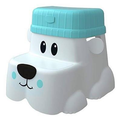 Potty Pet Kids Toilet Stool Cub Base & Hat White/Blue - Squatty Potty