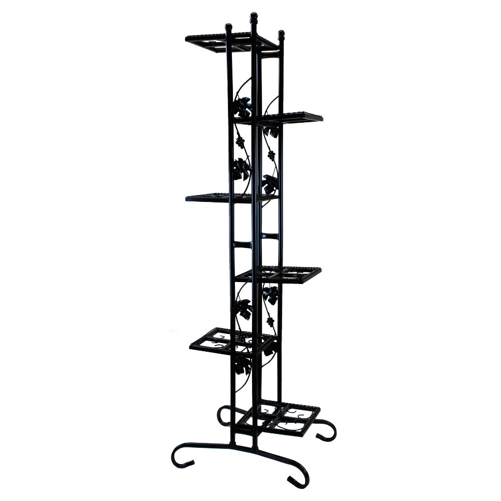 "Image of ""22"""" Oakland Rectangular Plant Stand - Black"""