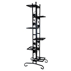 "22"" Oakland Rectangular Plant Stand - Black"