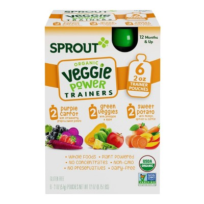 Sprout Foods Organic Toddler Flavor Introduction Kit to Veggies Baby Meals - 12oz/6pk Each