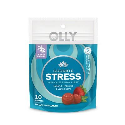 OLLY Goodbye Stress Gummies - Berry Verbena - 10ct