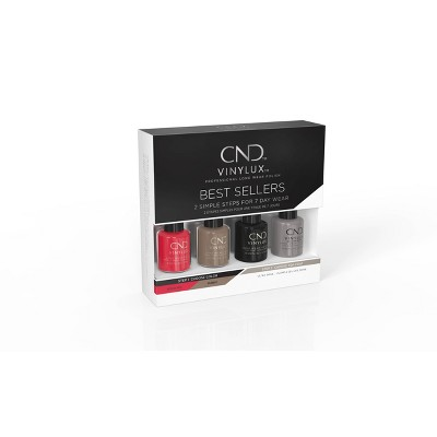 CND VINYLUX Best Seller Classic Pinkie Pack Nail Polish Set - 4ct