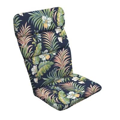 Simone Tropical Outdoor Adirondack Chair Cushion Blue - Arden Selections
