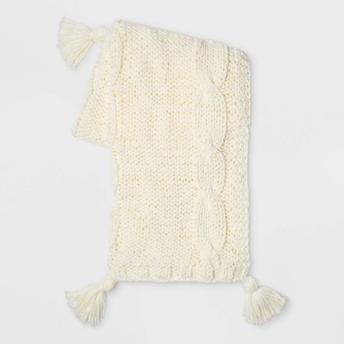 Chunky Cable Knit Throw Blanket - Threshold™ - image 1 of 2