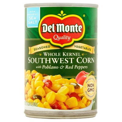 Del Monte Southwest Corn with Poblano & Red Peppers 15.25 oz
