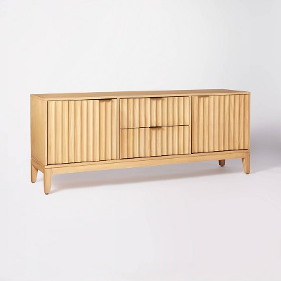 """Thousand Oaks Wood Scalloped TV Stand for TVs up to 60"""" - Threshold™ designed with Studio McGee"""