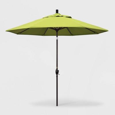 9u0027 Pacific Trail Patio Umbrella Push Button Tilt Crank Lift   Sunbrella  Parrot   California Umbrella