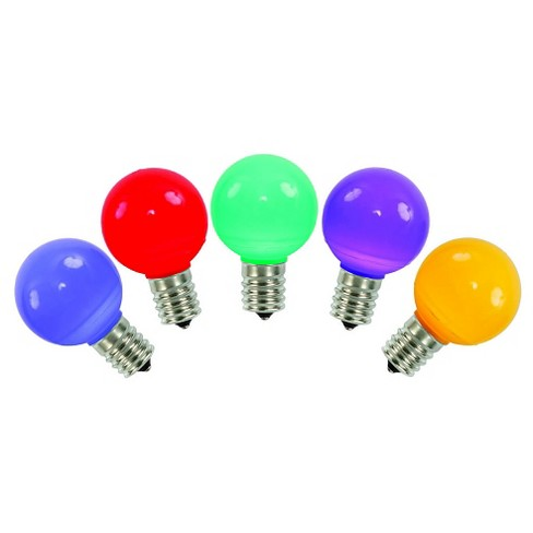 5ct G30 Multicolored Christmas Replacement Light Bulbs - image 1 of 1
