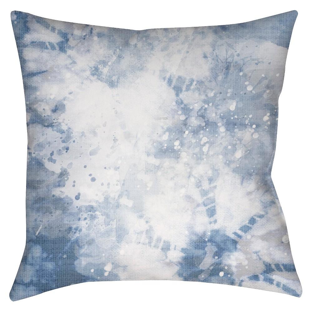 Light Blue Splatter Throw Pillow 20
